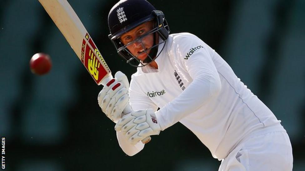Joe Root works the ball off his legs