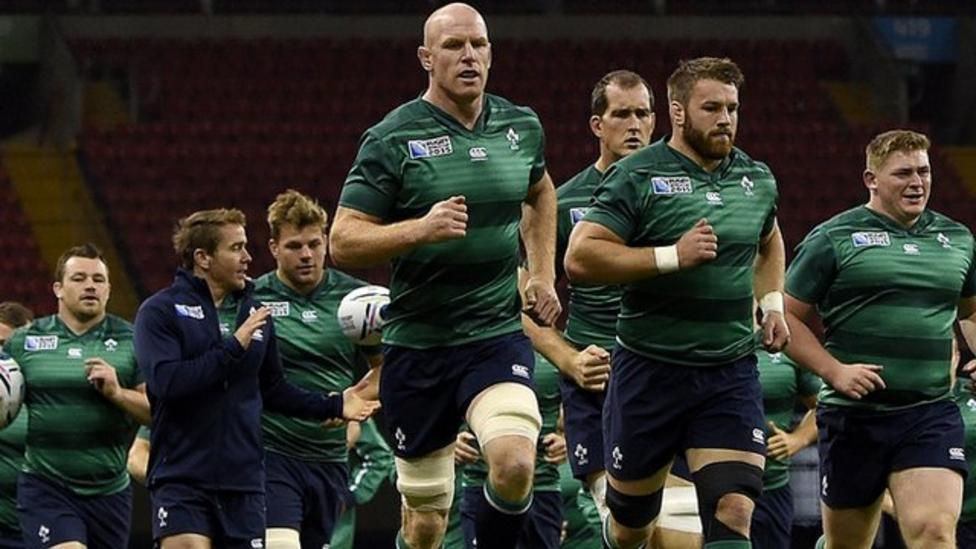 Ireland get ready to play France