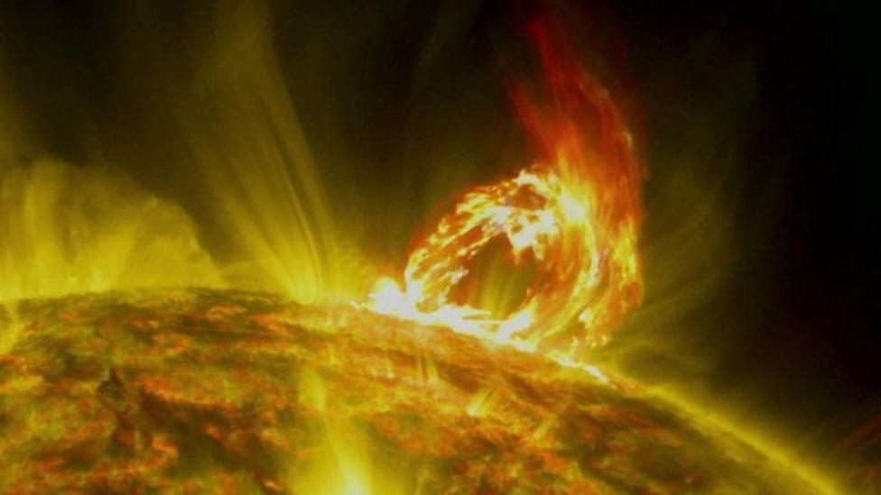 Solar eruption caught on camera