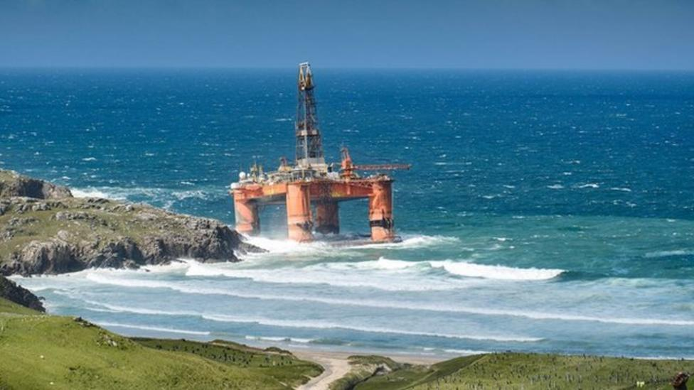 How this oil rig washed up in Scotland