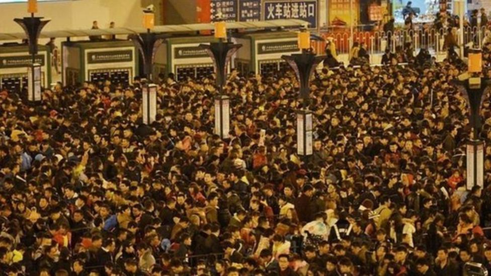 Longest ever queue for a train?