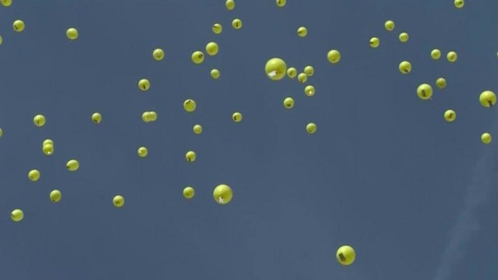 Balloons released to mark Aberfan disaster