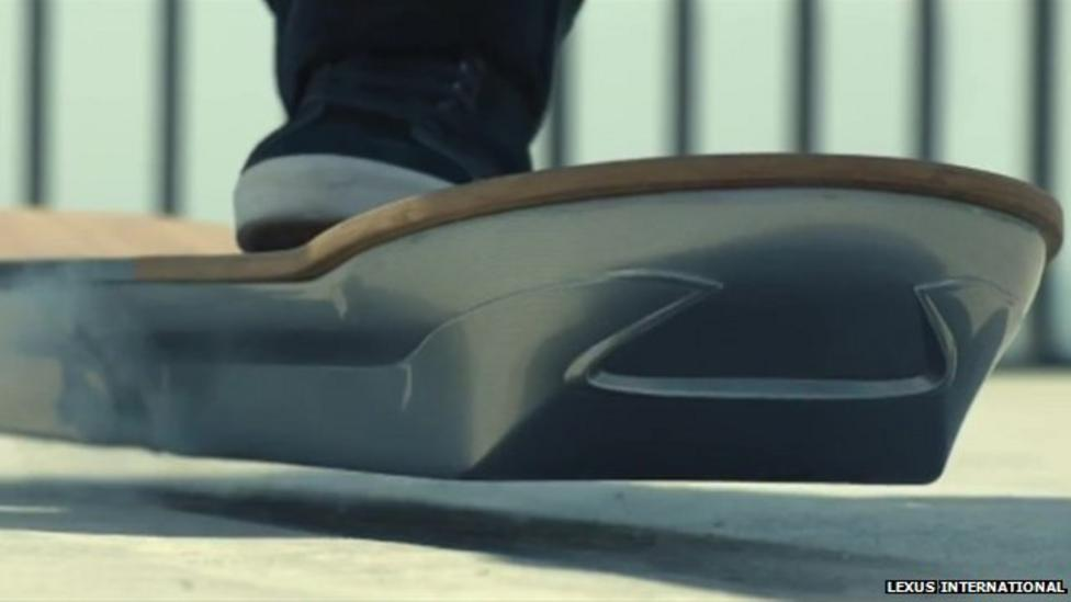 Futuristic floating hoverboard unveiled