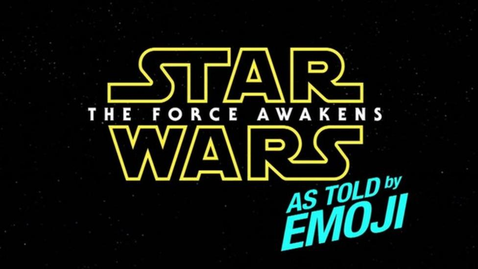 'The Force Awakens' in Emoji