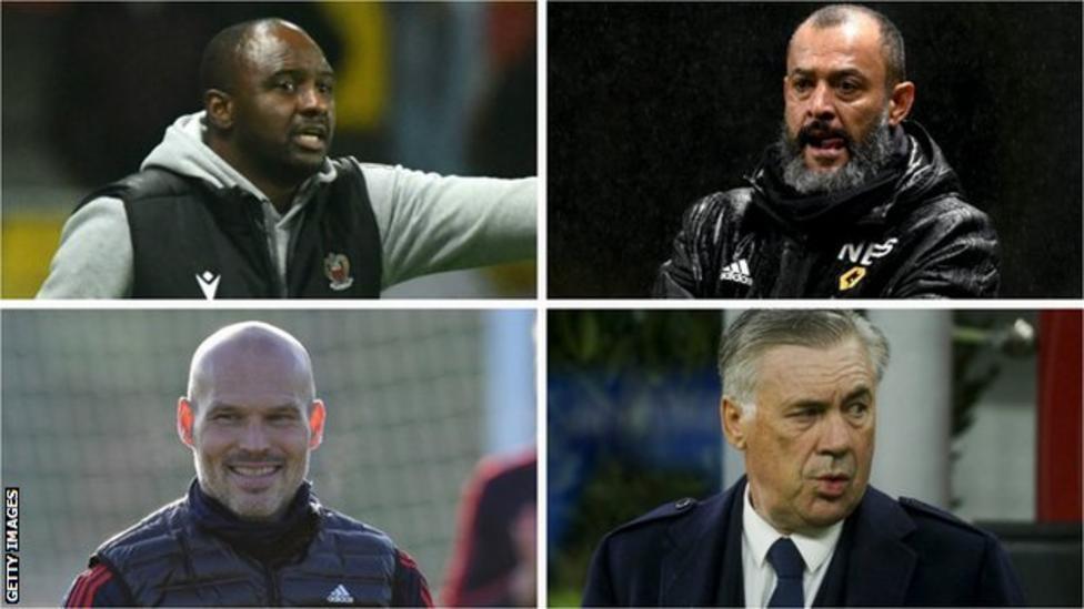 Patrick Vieira, Nuno, Fredrik Ljungberg and Carlo Ancelotti