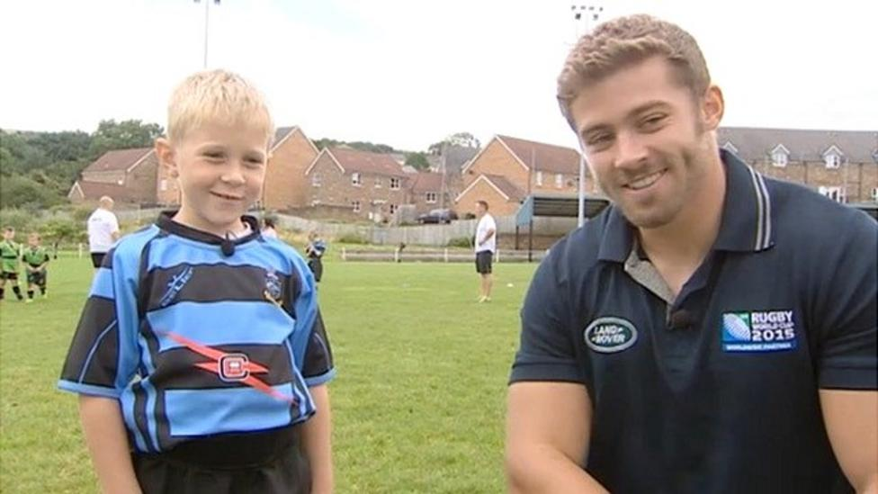 Young rugby fan gets huge surprise