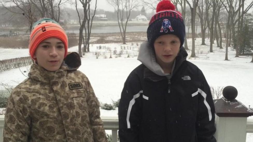 US kids report on storm