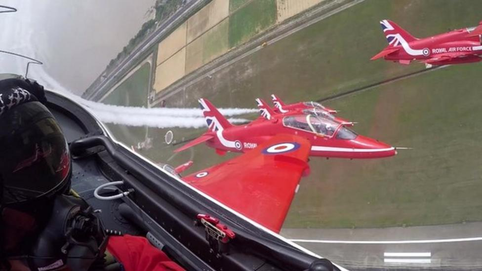 Watch the Red Arrows in action in China