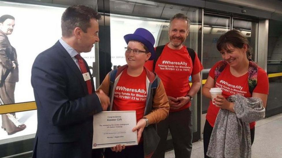 Boy visits 270 Tube stations in 24 hours