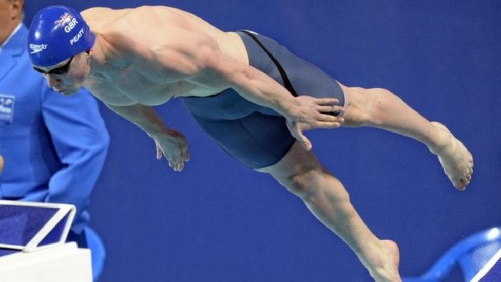Peaty powers to second swimming gold