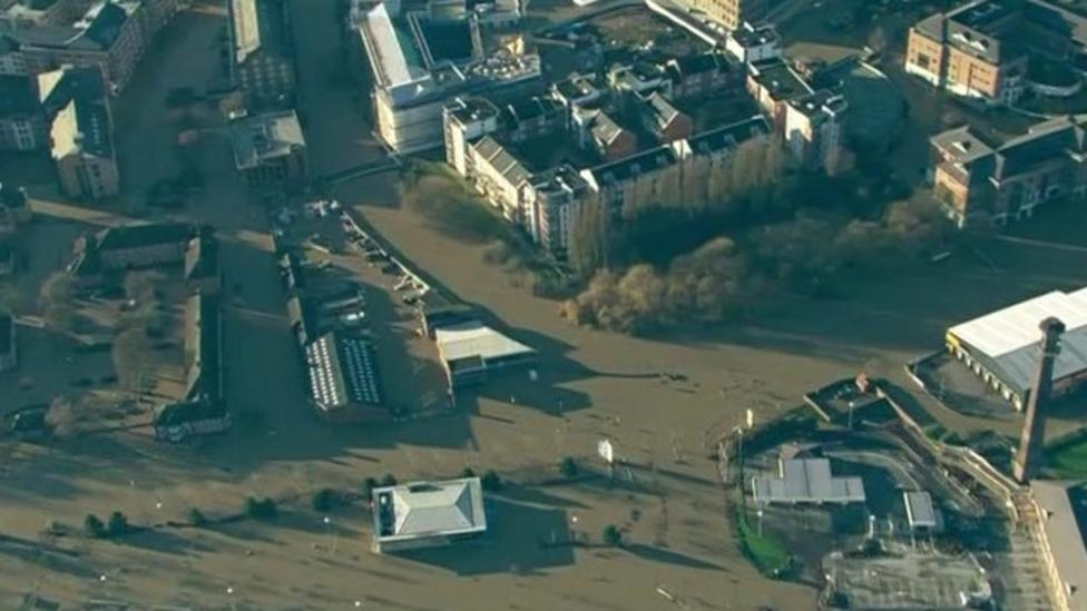 UK floods seen from the skies