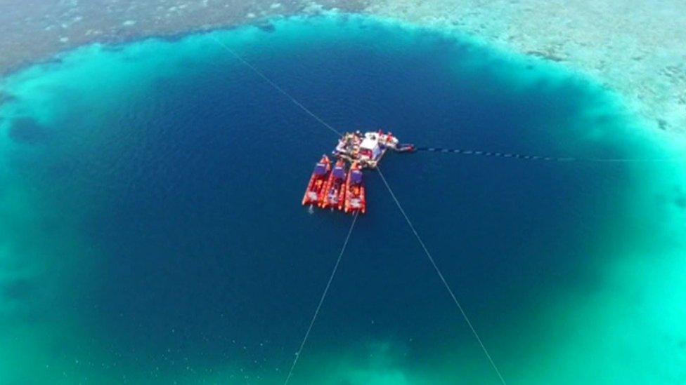 'World's deepest' underwater sinkhole