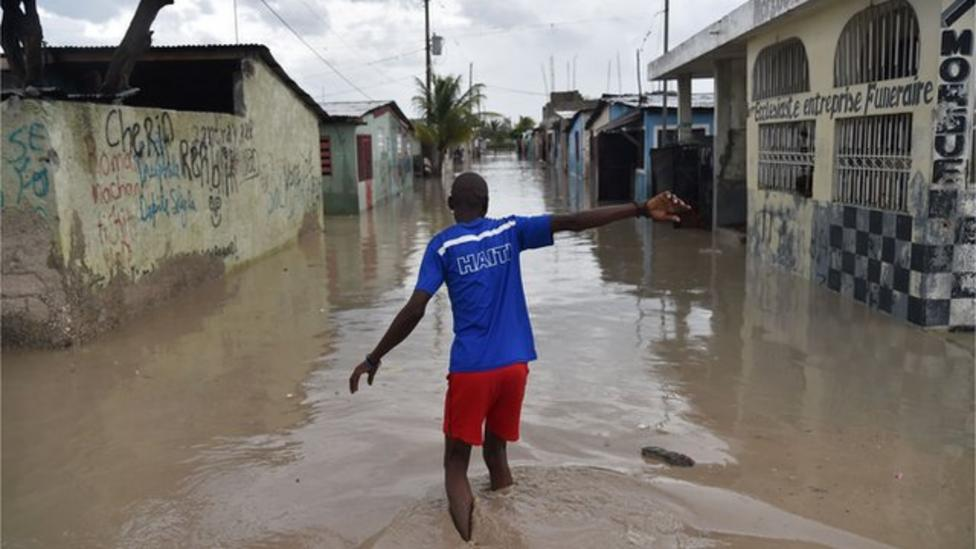 Les Cayes badly hit by Hurricane
