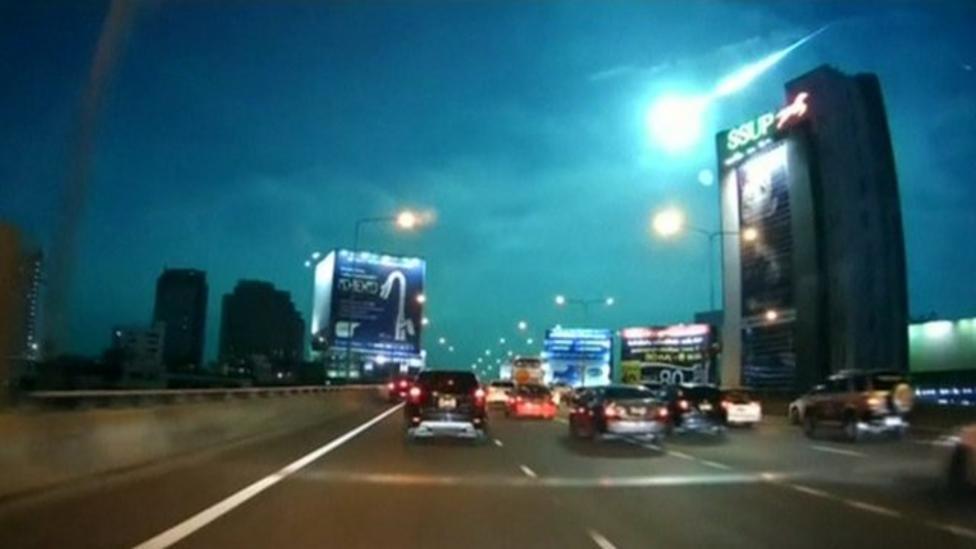'Fireball meteor' lights up sky in Bangkok