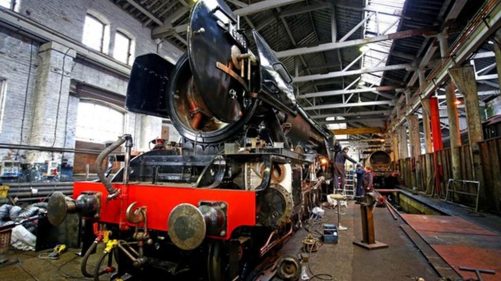 Massive steam train gets makeover