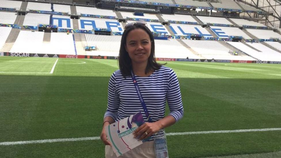 Leah is at Stade Velodrome