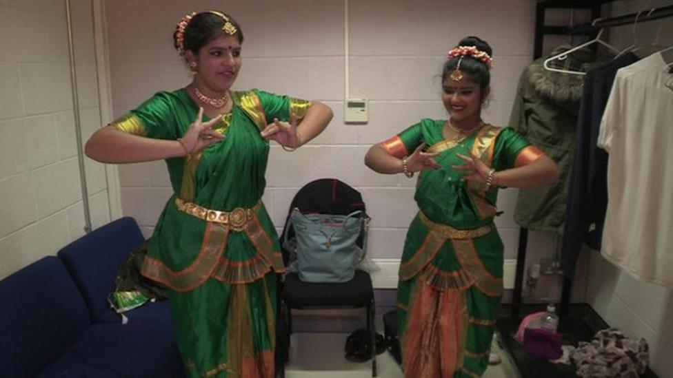 Ayshah learns some dance moves for Diwali
