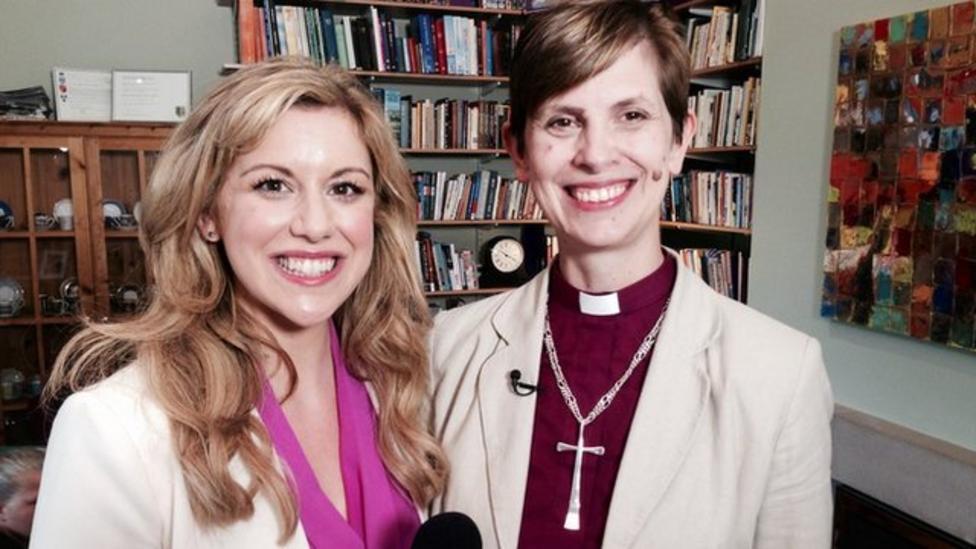 Kids quiz the first female bishop