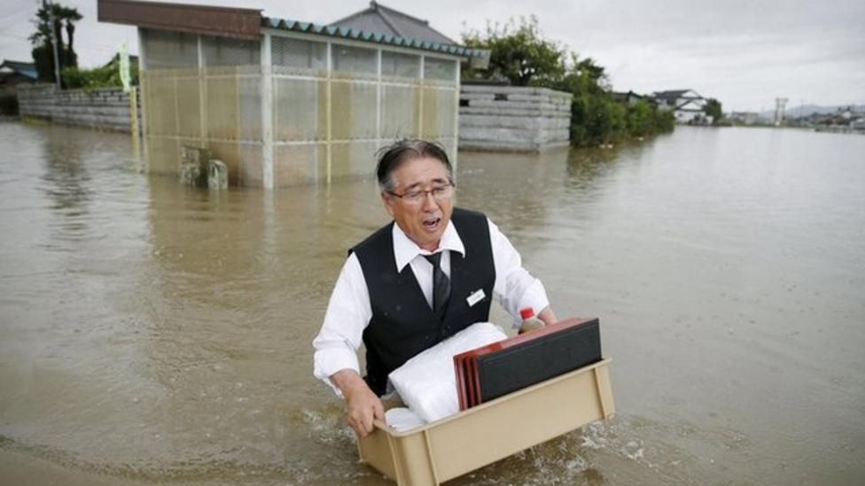 Major floods hit Japan after storm