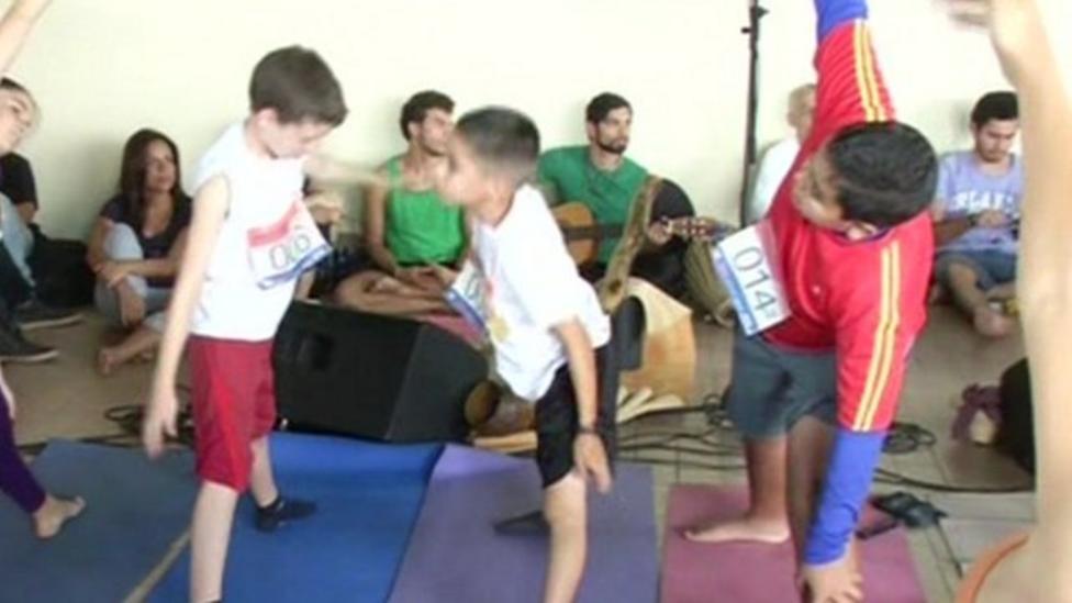 Yoga helping kids in Venezuela