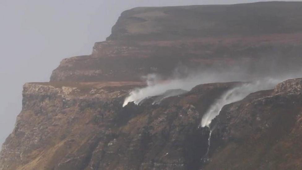 The waterfalls that flowed upside down
