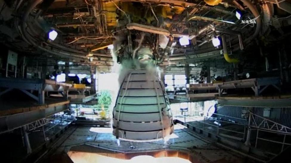 Nasa tests Mars mission engine