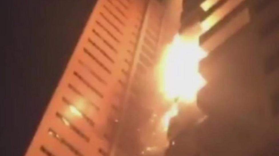 Tower block fire breaks out in UAE
