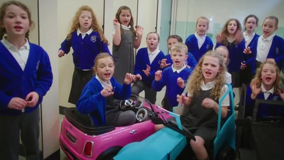 Kids make song about parents' driving