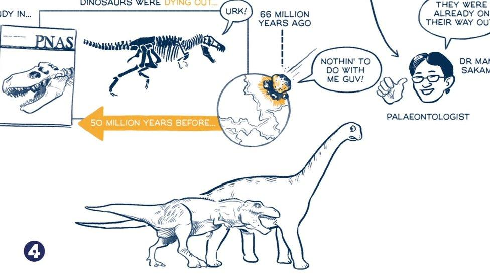 What happened to dinos? An animation