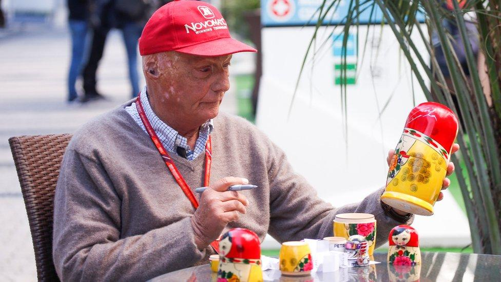 Niki Lauda and a Russian doll