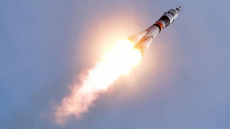 Soyuz space craft blasts off
