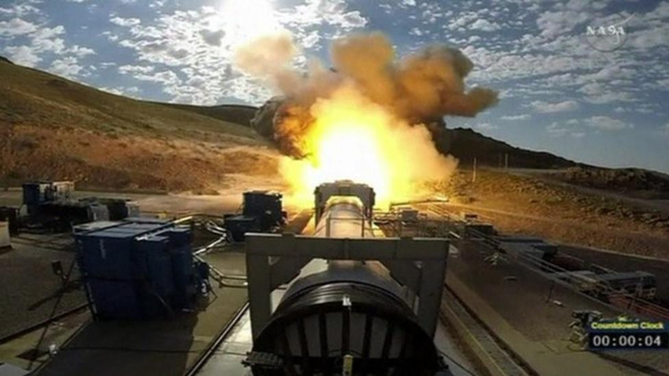NASA tests new rocket booster