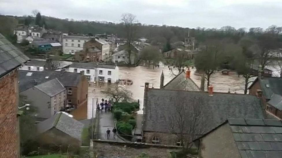 Cumbria floods for third time in a month