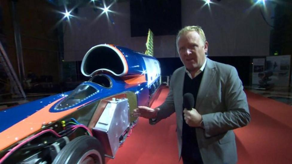 Super-Sonic Bloodhound car unveiled