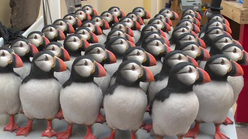 Fake puffins used to bring real ones back