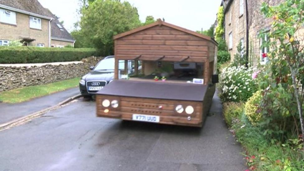 The speedy shed on four wheels