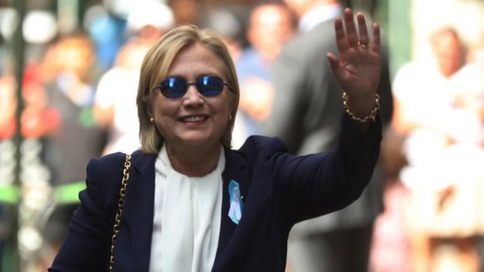 Hillary Clinton ill with pneumonia
