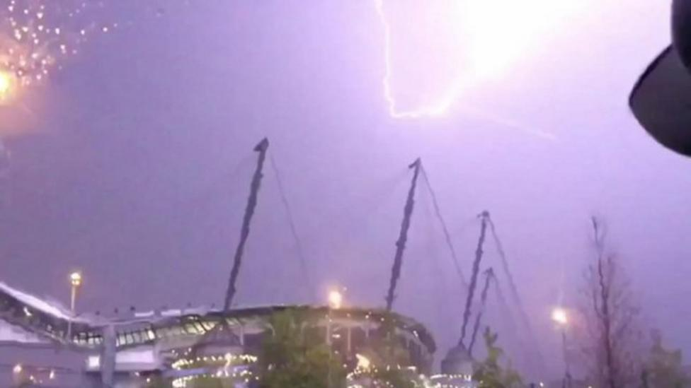 Hot weather turns to storms in some areas