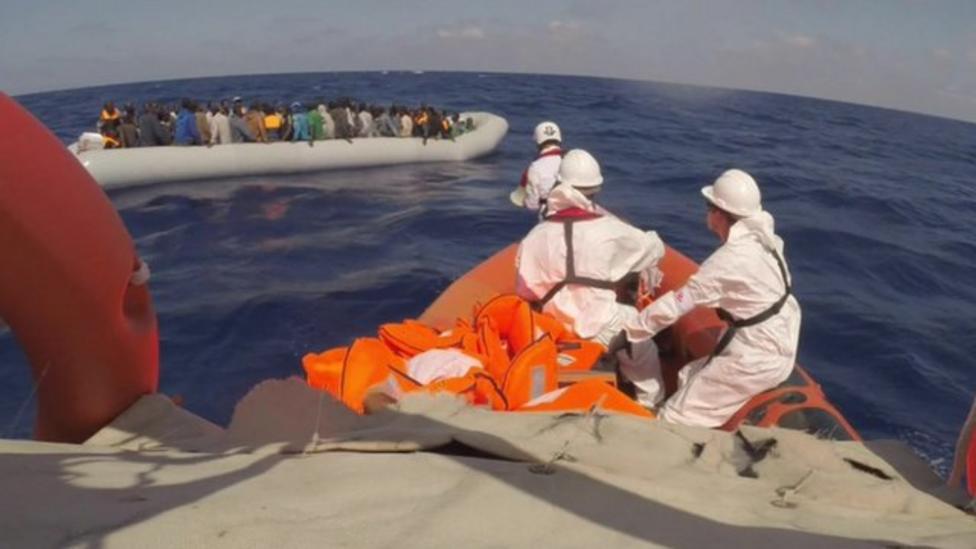 On board a migrant rescue boat