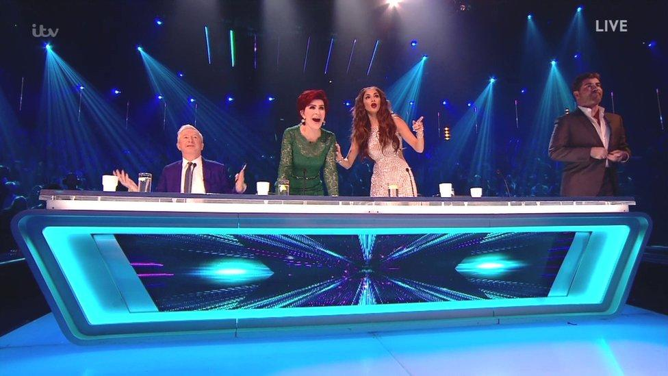 X Factor stage invasion following Honey G performance