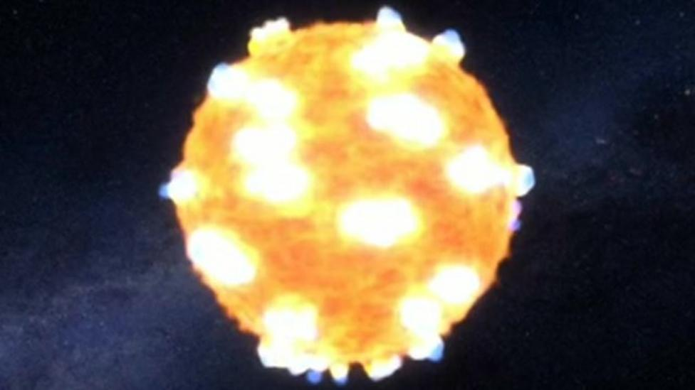 Space telescope catches star's explosion