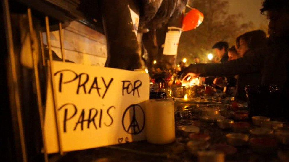 Paris: Support from around the world