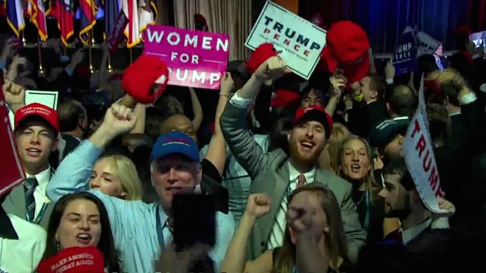Look back on a momentous night in US politics