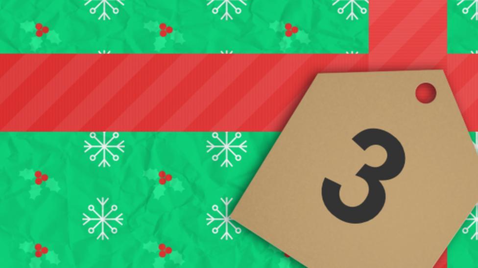 bbc sport advent calendar 3 december bbc sport. Black Bedroom Furniture Sets. Home Design Ideas