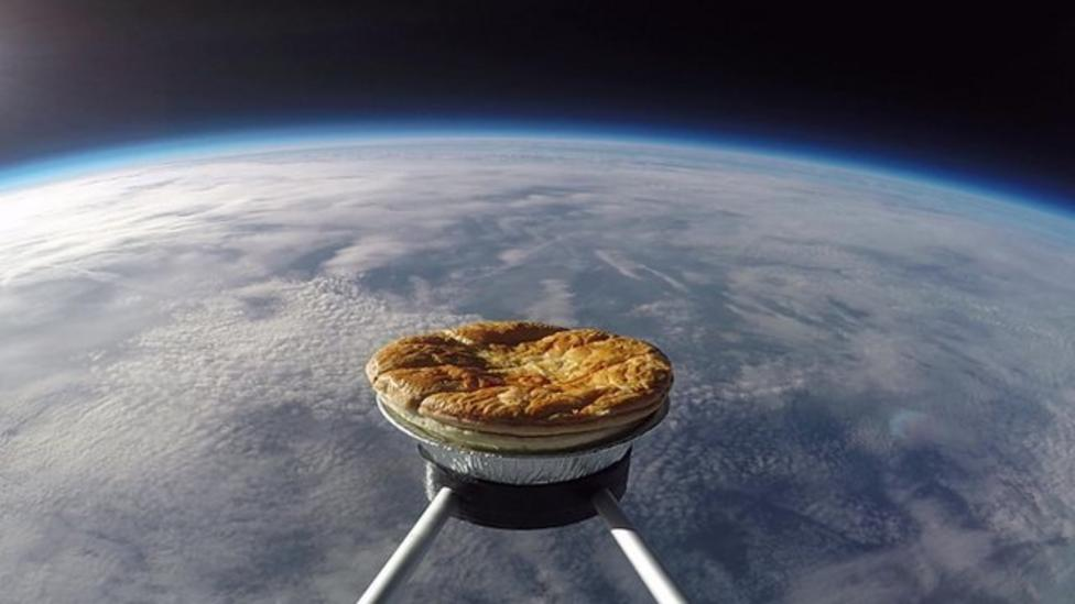 Pie in the sky goes 20 miles high