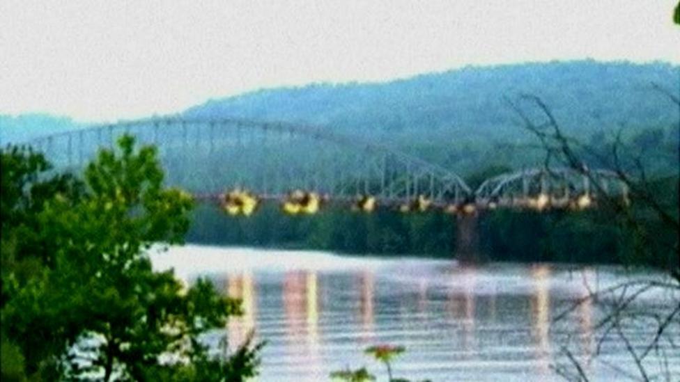 Bridge blown up during demolition