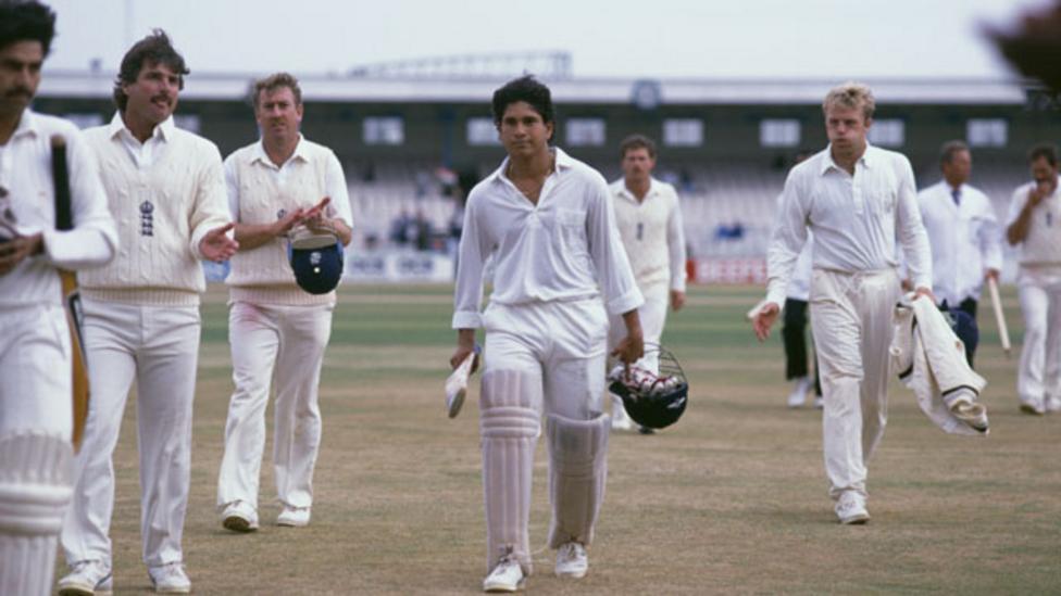 Sachin Tendulkar scored his maiden Test hundred against England in 1990. (Photo - BBC)