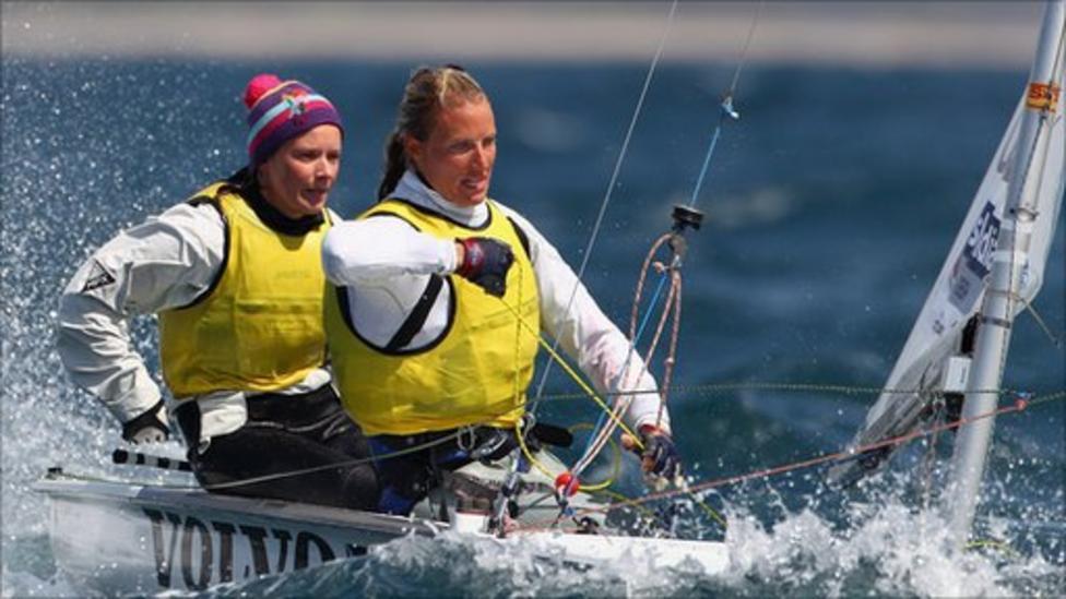 0223471223bf Hannah Mills and Saskia Clark win 2012 test event silver - BBC Sport