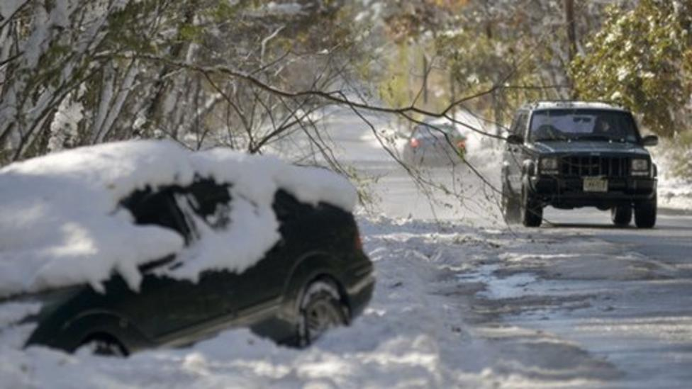 Snowstorm hits America