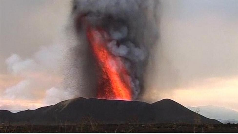 Nyamulagira volcano eruption